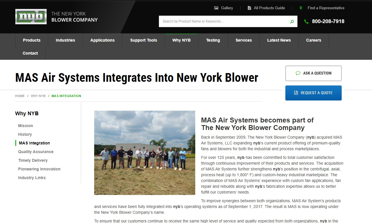 MAS Air Systems, LLC