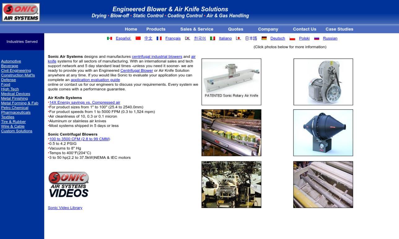 Sonic® Air Systems, Inc.